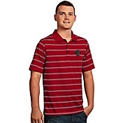Antigua Men's Toronto Raptors Deluxe Red Striped Performance Polo