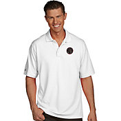 Antigua Men's Toronto Raptors Xtra-Lite White Pique Performance Polo