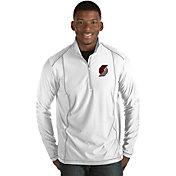 Antigua Men's Portland Trail Blazers Tempo White Quarter-Zip Pullover