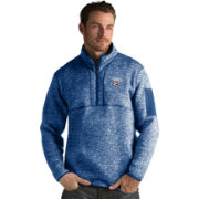 Antigua Men's Oklahoma City Thunder Fortune Royal Half-Zip Pullover