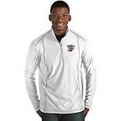 Antigua Men's Oklahoma City Thunder Tempo White Quarter-Zip Pullover