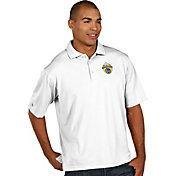 Antigua Men's 2017 NBA Champions Golden State Warriors Pique White Performance Polo