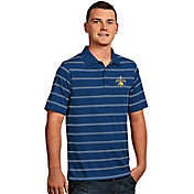 Antigua Men's 2017 NBA Champions Golden State Warriors Deluxe Royal Striped Performance Polo