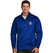 Antigua Men's 2017 NBA Champions Golden State Warriors Royal Golf Jacket