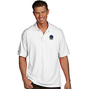 Antigua Men's Golden State Warriors Xtra-Lite White Pique Performance Polo