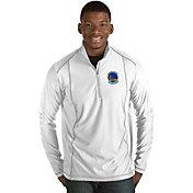 Antigua Men's Golden State Warriors Tempo White Quarter-Zip Pullover