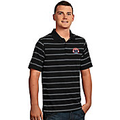 Antigua Men's Washington Wizards Deluxe Black Striped Performance Polo