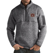 Antigua Men's Auburn Tigers Grey Fortune Pullover Jacket