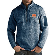 Antigua Men's Auburn Tigers Blue Fortune Pullover Jacket