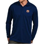 Antigua Men's Auburn Tigers Blue Exceed Long Sleeve Polo