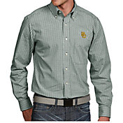 Antigua Men's Baylor Bears Green Associate Button Down Long Sleeve Shirt
