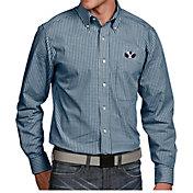 Antigua Men's BYU Cougars Blue Associate Button Down Long Sleeve Shirt