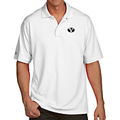 Antigua Men's BYU Cougars White Pique Xtra-Lite Polo