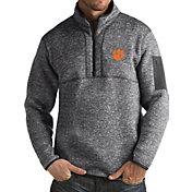 Antigua Men's Clemson Tigers Grey Fortune Pullover Jacket