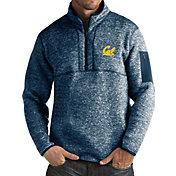 Antigua Men's Cal Golden Bears Blue Fortune Pullover Jacket