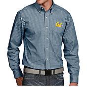 Antigua Men's Cal Golden Bears Blue Associate Button Down Long Sleeve Shirt