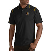 Antigua Men's Colorado Buffaloes Merit Xtra-Lite Black Polo