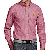 Antigua Men's Central Michigan Chippewas Maroon Associate Button Down Long Sleeve Shirt