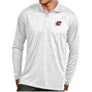 Antigua Men's Central Michigan Chippewas White Exceed Long Sleeve Polo