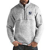 Antigua Men's Creighton Bluejays Grey Fortune Pullover Jacket