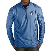 Antigua Men's Creighton Bluejays Blue Tempo Half-Zip Pullover