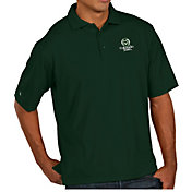Antigua Men's Colorado State Rams Green Pique Xtra-Lite Polo