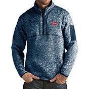 Antigua Men's Dayton Flyers Blue Fortune Pullover Jacket