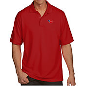 Antigua Men's Dayton Flyers Red Pique Xtra-Lite Polo