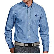 Antigua Men's Air Force Falcons Blue Associate Button Down Long Sleeve Shirt