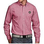 Antigua Men's Florida State Seminoles Garnet Associate Button Down Long Sleeve Shirt