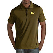 Antigua Men's Georgia Tech Yellow Jackets Black Quest Polo