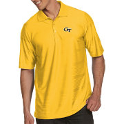 Antigua Men's Georgia Tech Yellow Jackets Gold Illusion Polo