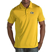 Antigua Men's Georgia Tech Yellow Jackets Gold Quest Polo