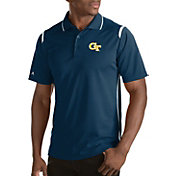 Antigua Men's Georgia Tech Yellow Jackets Merit Xtra-Lite White Polo