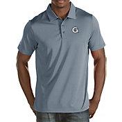 Antigua Men's Georgetown Hoyas Grey Quest Polo