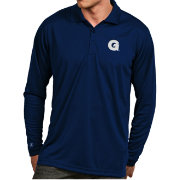 Antigua Men's Georgetown Hoyas Blue Exceed Long Sleeve Polo