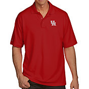 Antigua Men's Houston Cougars Red Pique Xtra-Lite Polo