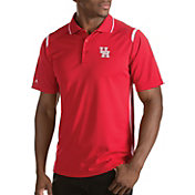 Antigua Men's Houston Cougars Merit Xtra-Lite White Polo