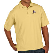 Antigua Men's James Madison Dukes Gold Pique Xtra-Lite Polo