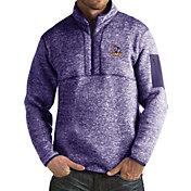 Antigua Men's James Madison Dukes Purple Fortune Pullover Jacket