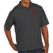 Antigua Men's Oklahoma Sooners Grey Pique Xtra-Lite Polo