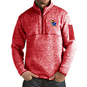 Antigua Men's Kansas Jayhawks Crimson Fortune Pullover Jacket