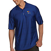 Antigua Men's Kansas Jayhawks Blue Illusion Polo