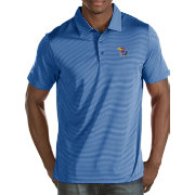 Antigua Men's Kansas Jayhawks Blue/White Quest Polo
