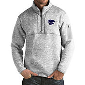 Antigua Men's Kansas State Wildcats Grey Fortune Pullover Jacket