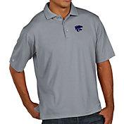 Antigua Men's Kansas State Wildcats Grey Pique Xtra-Lite Polo