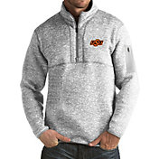 Antigua Men's Oklahoma State Cowboys Grey Fortune Pullover Jacket