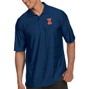 Antigua Men's Illinois Fighting Illini Blue Illusion Polo
