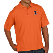 Antigua Men's Illinois Fighting Illini Orange Pique Xtra-Lite Polo