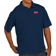 Antigua Men's Ole Miss Rebels Blue Pique Xtra-Lite Polo